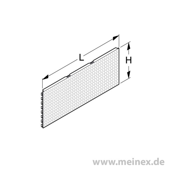 Back Panel Tegometall Perforated 40cm