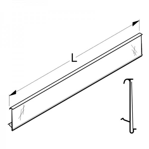 Scanner Rail / Price Rail Tegometall - White-aluminium - external corner 90°