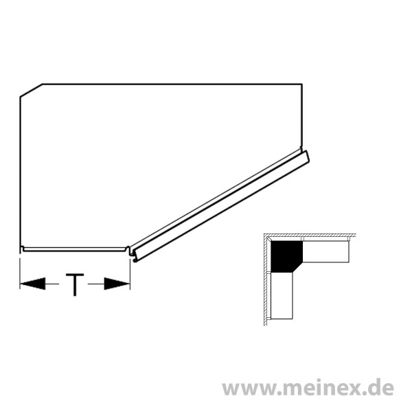 Steel Shelf Tegometall internal corner 90°