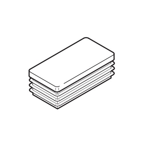 Deckkappe Tegometall für Säule 60x30 mm