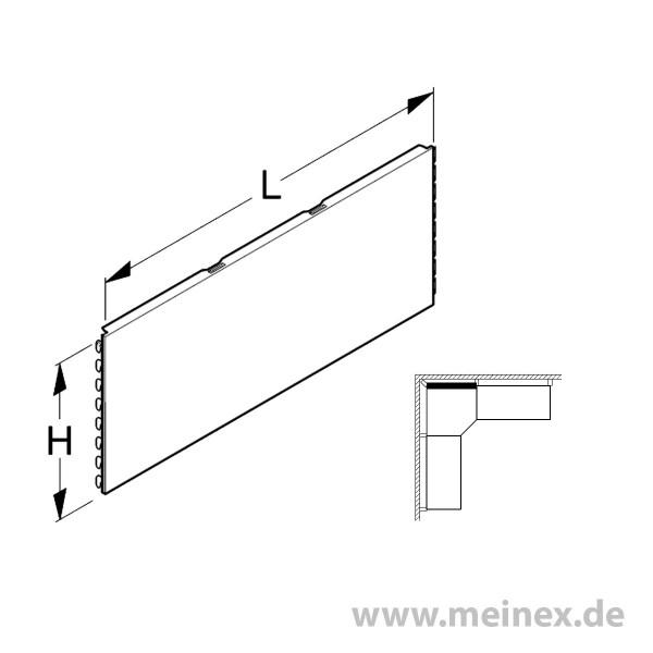 Back panel plain Tegometall internal corner 90°