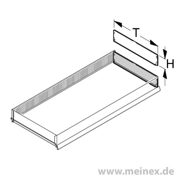 Vertical Dividing Strip Tegometall - Transparent Plastic