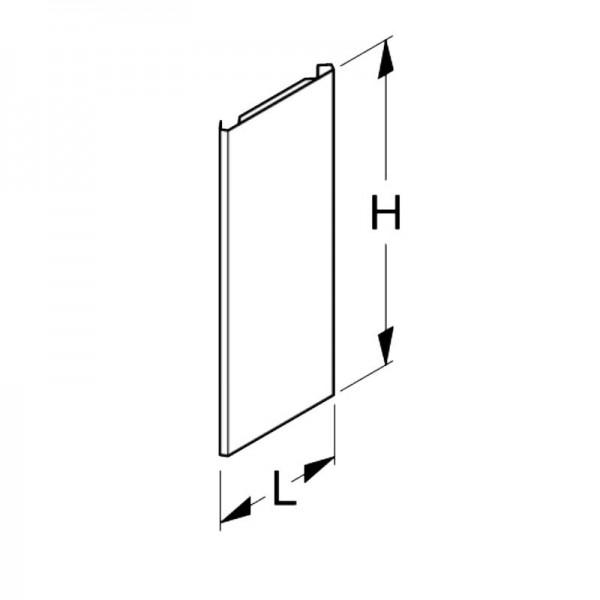 Back panel plain Tegometall external corner 90°